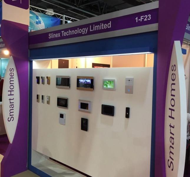 Slinex на выставке Intersec 2017 в Дубае, ОАЭ.